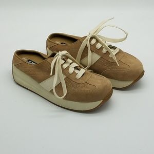 Joe Boxer Slip On Suede Tennis Shoes Tan Size 8